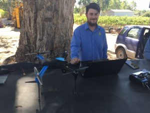 Brad and the drone