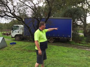 Bogged Auusie post driver